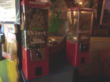 Vending machine at Willie Wortels