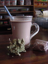 Trichome hot chocolate