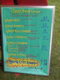 J Day stall menu