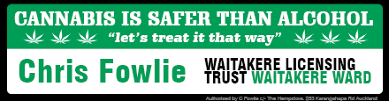 NORML NZ president Chris Fowlie is running for the Waitakere Licensing Trust.